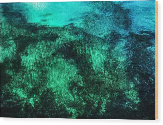 Water Abstraction Wood Print by Kim Lessel