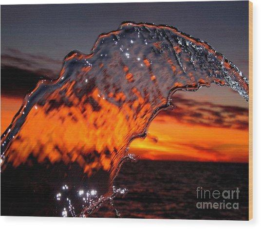 Water Art 2 Wood Print