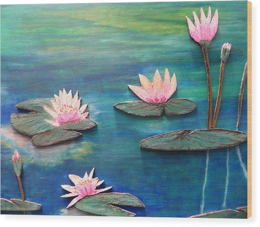Water Blossom Wood Print