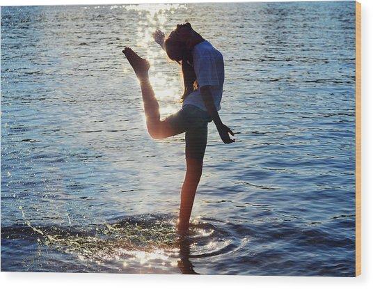 Water Dancer Wood Print