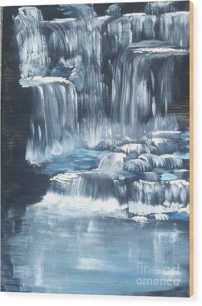 Water Falls And Falls And Falls Wood Print