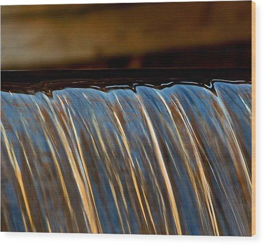 Water Falls Edge 3 Wood Print