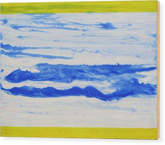 Water Flow Wood Print by Tom Hefko