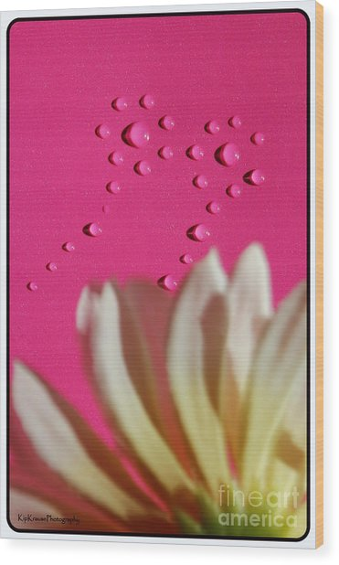 Water Flowers Wood Print by Kip Krause