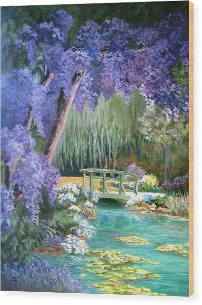 Water Garden Wood Print by Teresita Hightower