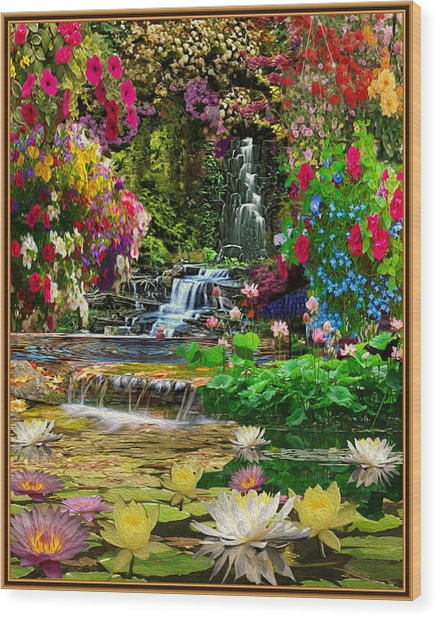 Water Gardens Wood Print