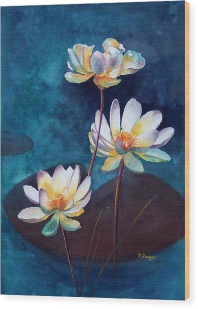 Water Lotus Wood Print