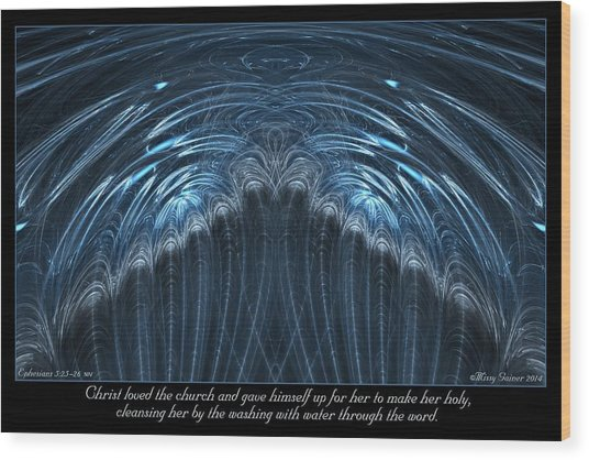 Wood Print featuring the digital art Water by Missy Gainer