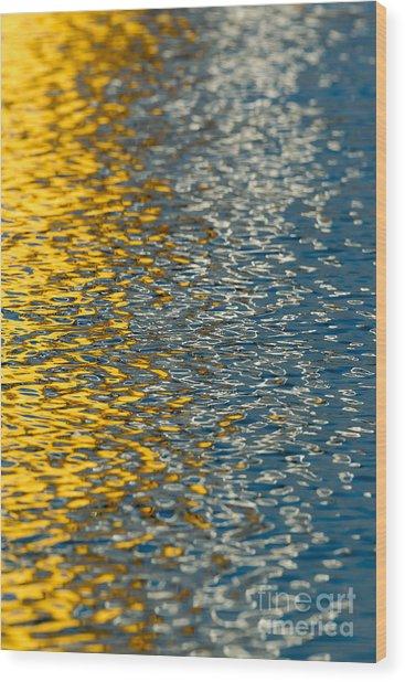 Water Ripples Wood Print by Kelly Morvant