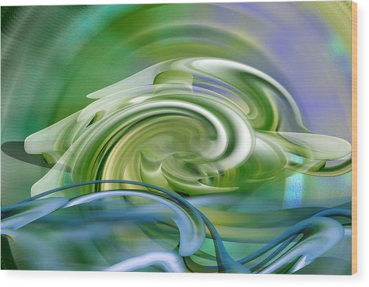 Water Sports - Abstract Art Wood Print