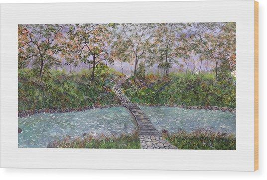 Water Under The Bridge Wood Print by Leo Gehrtz