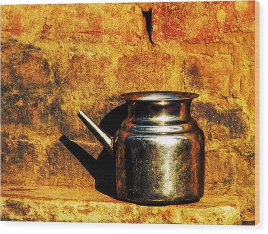 Water Vessel Wood Print
