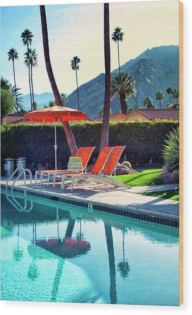 Water Waiting Palm Springs Wood Print