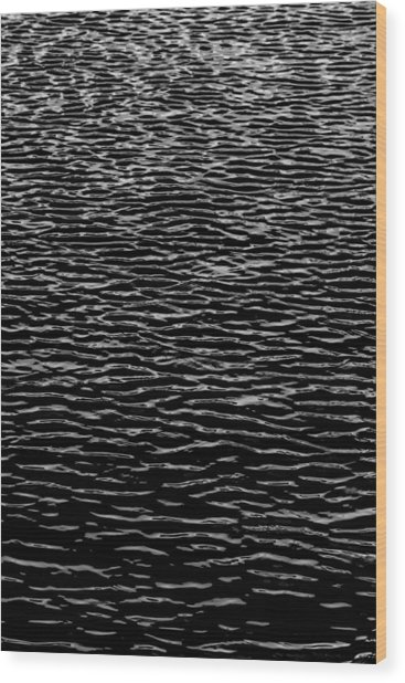 Water Wave Texture Wood Print
