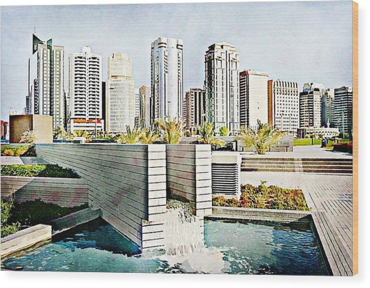 Water World Wood Print by Peter Waters