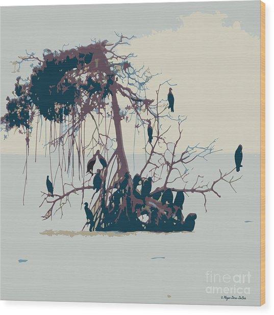 Waterbirds1 Wood Print