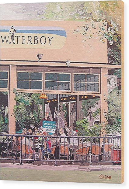 Waterboy Wood Print by Paul Guyer