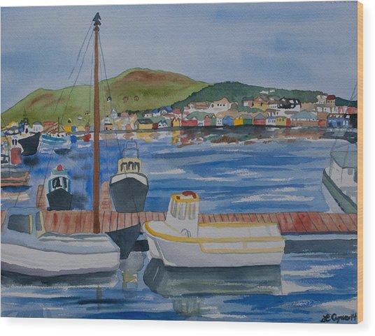 Watercolor - Dingle Ireland Wood Print