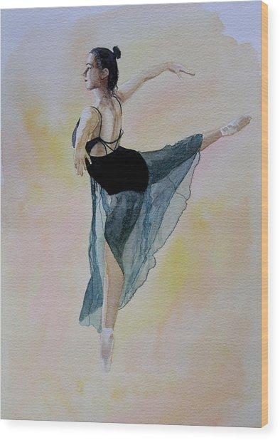 Watercolour Dancer Wood Print