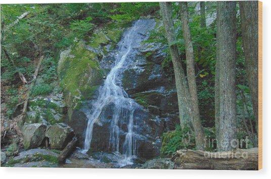 Waterfall At Crabtree Falls Wood Print