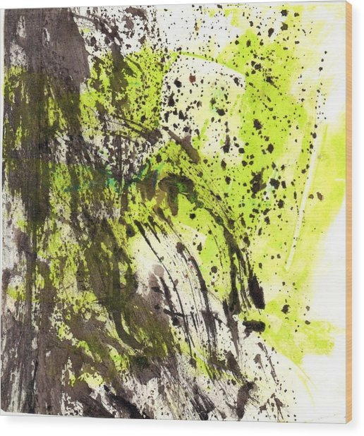 Waterfall In Abstract Wood Print
