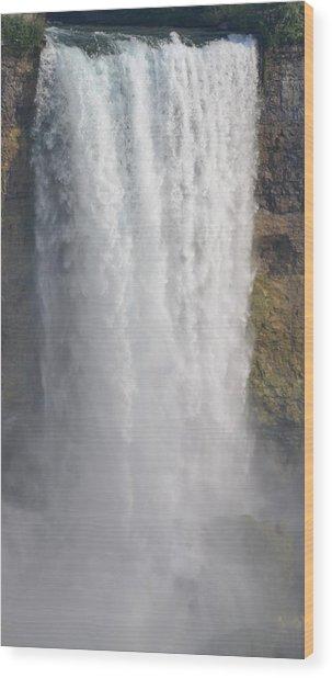 Waterfall Wood Print by Kiros Berhane
