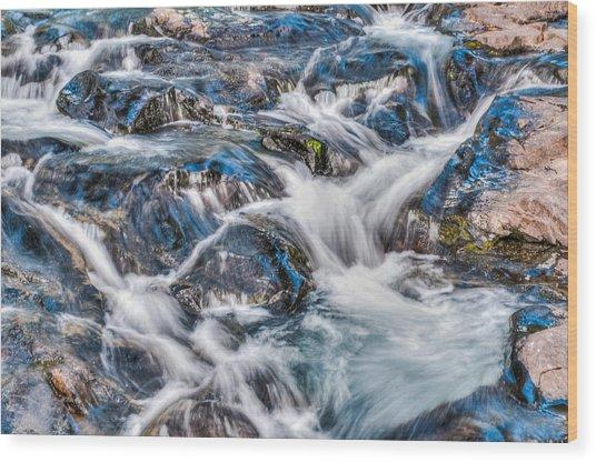 Waterfall On Mt. Rainier Wood Print