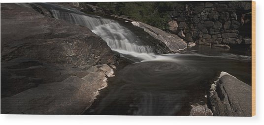 Waterfall Panoramic Wood Print by Michael Murphy