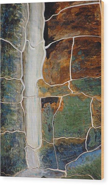 Waterfall Slate Wood Print