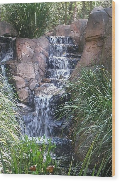 Waterfall Steps Wood Print