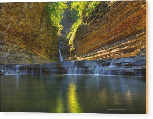 Waterfalls At Watkins Glen State Park Wood Print