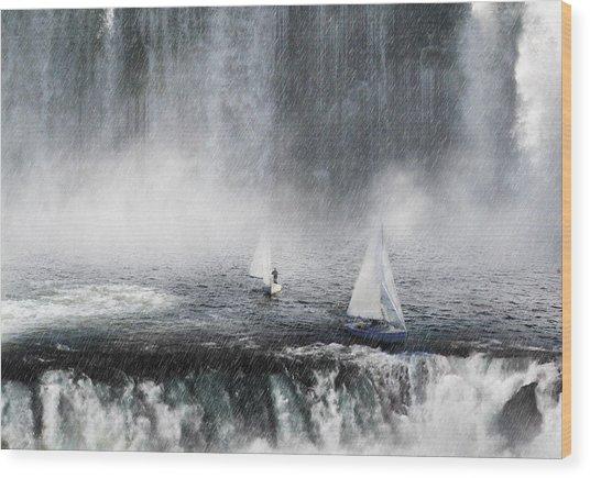 Waterfalls Edge Wood Print