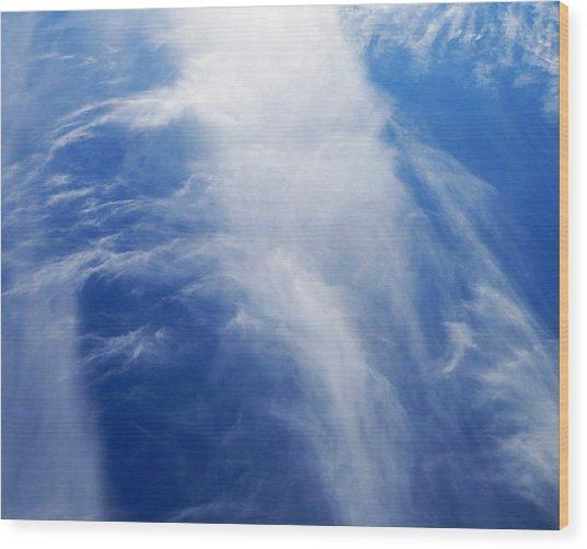 Waterfalls In The Sky Wood Print