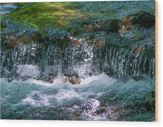 Waterflow Wood Print