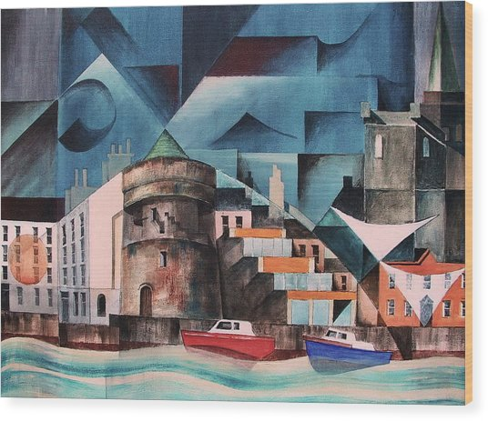 Waterford Quays Wood Print