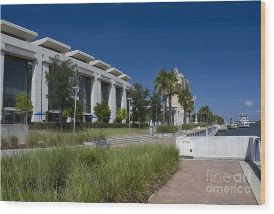 Waterfront Convention Center Wood Print