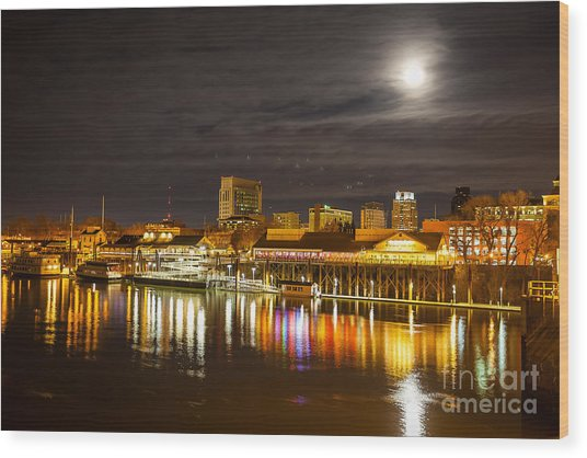 Waterfront Wonder Wood Print