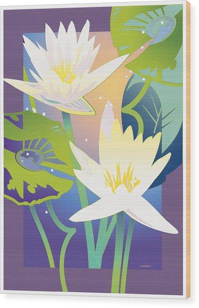 Waterglow Wood Print