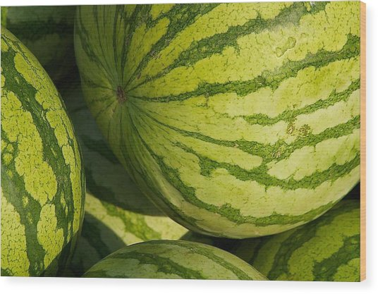 Watermelons Wood Print