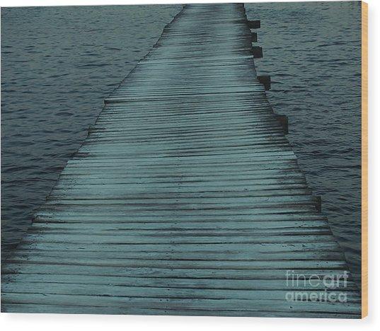 Water's Path Wood Print