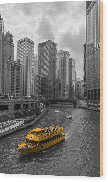 Watertaxi Wood Print by Clay Townsend