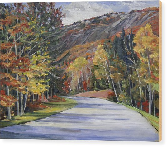 Waterville Road New Hampshire Wood Print