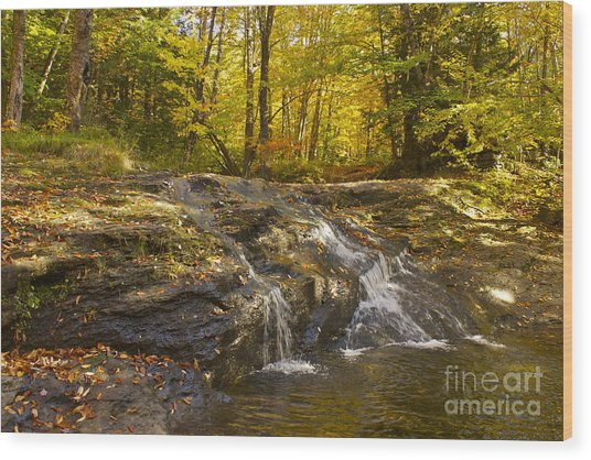 Waterville Waterfall Revisited Wood Print