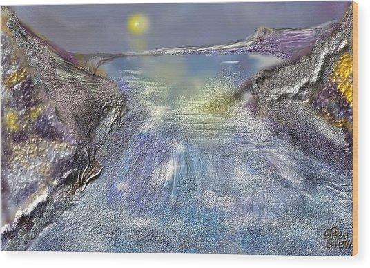 Waterway Rush Wood Print by Gregory Steward