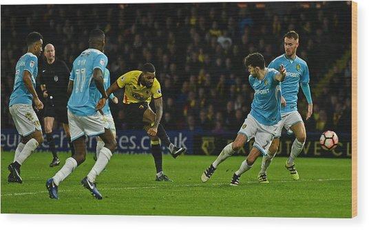 Watford V Burton Albion - The Emirates Fa Cup Third Round Wood Print by Dan Mullan