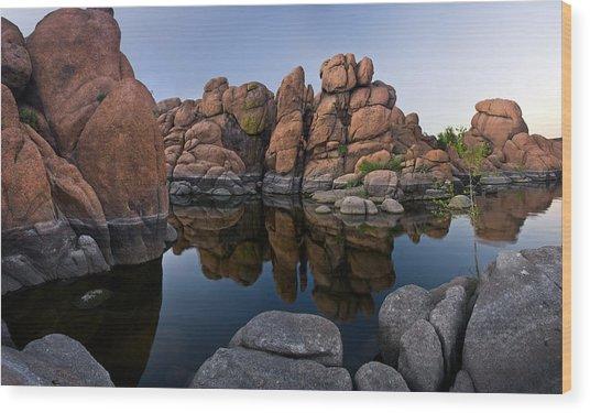 Watson Lake Arizona Reflections Wood Print