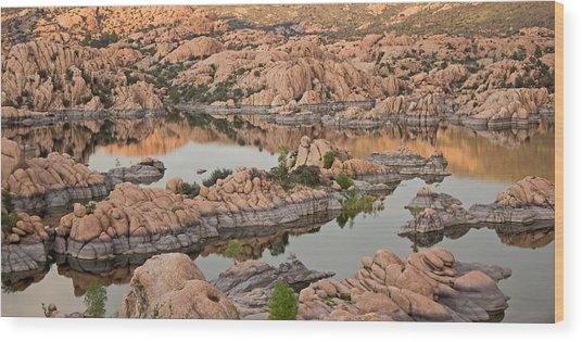 Watson Lake Sunset Wood Print