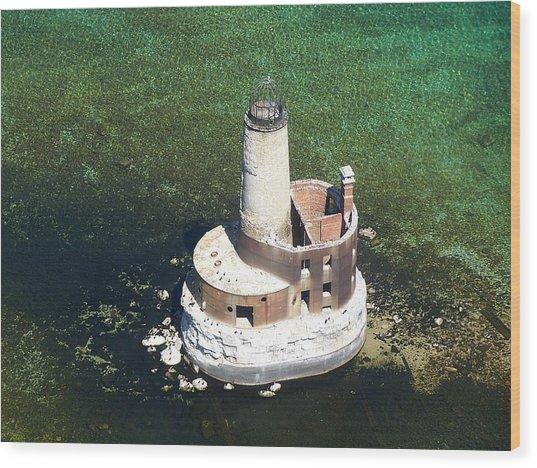Waugoshance Lighthouse Wood Print