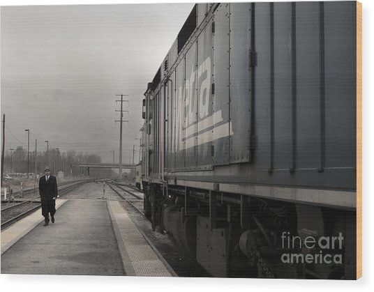 Waukugen Train Station Wood Print