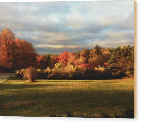 Waupaca Sunset Wood Print